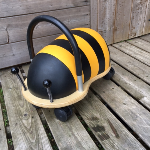 wooden bumble bee ride on