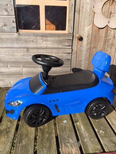 Maserati blue ride on toy