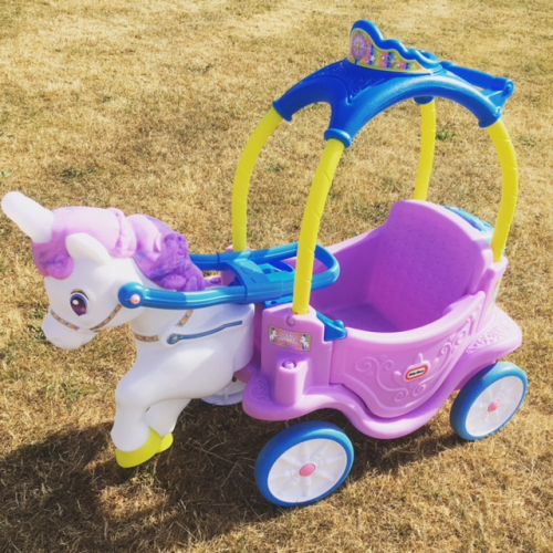 Little tikes unicorn horse & carriage ride on
