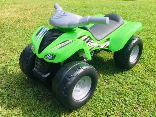 green Kawasaki quad ride on toy
