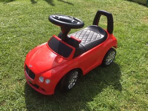 red Bentley ride on toy car